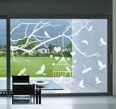 Birds In Cages Window Sticker Tenstickers