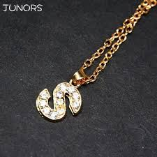 crystal tiny gold initial necklace