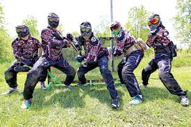 Image result for old guys playing paintball