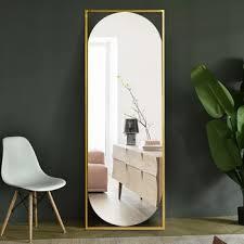 metal antique gold floor mirror full