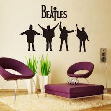 Mzy Llc Tm The Beatles Wall Sticker Home Decals Vinyl Wall Art Quote Deco Decor Mural Sticker Decal Home De Beatles Wall Vinyl Wall Art Quotes Vinyl Wall Art