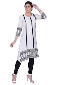 Buy Women's cotton kurti by Ada (White) at Amazon.in