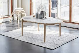 series of coffee tables of tiles and wood