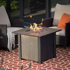 fire pit table outdoor patio rustic