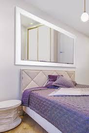 white modern big leaner wall mirror