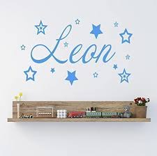 Custom Name Wall Decals Personalised Name With Stars Vinyl Wall Art Sticker For Nursery Diy Kids Baby Bedroom Wall Decor L200 Wall Decor Name Wall Decalswall Decals Aliexpress