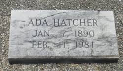 Ada Griffin Hatcher (1890-1981) - Find A Grave Memorial