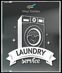 Laundry Service Decal Sign Business Store Vinyl Window Decal Etsy