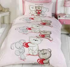 teddy bear love double duvet with free