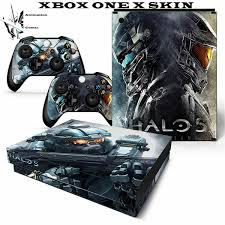 Halo Xbox One X Video Game Console Sticker Covers Decal Xbox One X Console Controllers Skins Halo 5 Guardians Wish