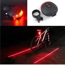 Đèn LED gắn đuôi xe đạp 2 tia laser và 5 đèn LED báo tín hiệu