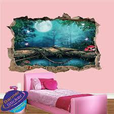 Fairy Fantasy Forest Wall Stickers 3d Art Poster Room Decor Decal Mural Zy6 Ebay