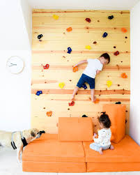 Using The Nugget As The Landing Pad For Your Diy Rock Climbing Wal Creative Kids Rooms Kids Bedroom Walls Kids Wall Decor