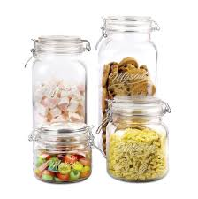home basics four piece glass canister
