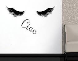 Wall Decal Window Sticker Beauty Salon Woman Face Eyelashes Etsy