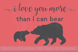 I Love You More Than I Can Bear Nursery Animal Prints Wall Stickers