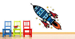 Space Rocket Wall Stickers By Charuca Dezign With A Z