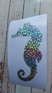Seahorse Decal Seahorse Car Window Sticker Rtic Yeti Vinyl Etsy Glitter Decal Car Window Stickers Window Stickers