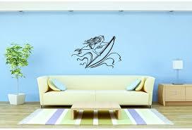 Rosecliff Heights Mermaid And Surfboard Wall Decal Wayfair