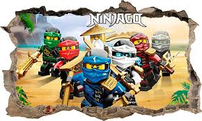 Wall Stickers Hole In The Wall Lego Ninjago Sticker Vinyl Decor Mural 92