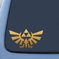 Triforce Logo Wings Gold Sticker Decal Notebook Car Laptop