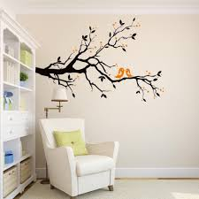Bibitime Tree Bird Wall Decal Hearts Leaves Branch Vinyl Sticker For Couple Bedroom Lovers Valentine Home Decor Kids Room Wall Murals Christmas Gift Wall Decor