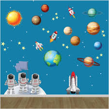 Space Solar System Theme Wall Decal Studiowalldecals