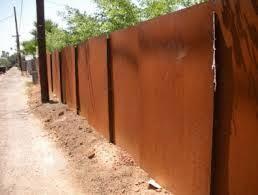 Iron Plate Fence Google Search Steel Fence Fence Corten Steel