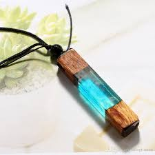 whole secret forest wooden necklace