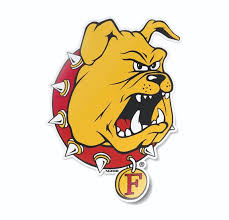 Ferris State University Bulldogs Mascot Head Logo Car Decal Etsy