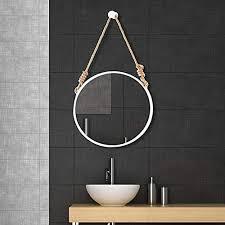 bathroom mirror iron frame art rope