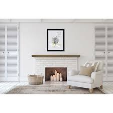 barn wood gray floating mantel shelf