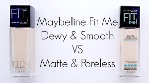 maybelline fit me foundations in 110