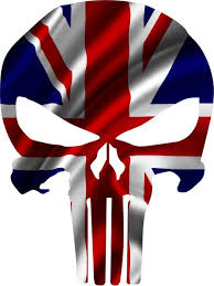 British Flag Punisher Decal Sticker 103