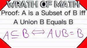 a subset of b iff a union b equals b