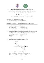 เฉลย ข้อสอบคัดเลือกผู้แทนประเทศไทยไปแข่งขัน IJSO รอบที่ 1 ปี 2551