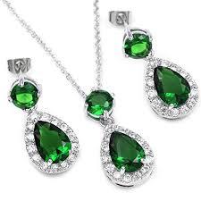 fc white gold gp emerald color