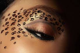 carnival makeup leopard cate eye for