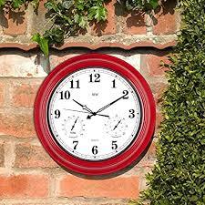 garden wall clock 45cm outdoor clocks