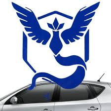 Pokemon Go Blue Team Mystic Window Decal Toy Game World