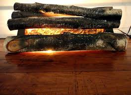 fireplace logs fire place insert faux