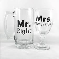 Vinyl Decals For Wine Glasses Mr Right Mrs Always Right Beer Mug Wine Glass Set Anniversary Gift Wedding Gift Engagement Gift For Couples Bridal Shower Gift Equalmarriagefl Vinyl From Vinyl Decals