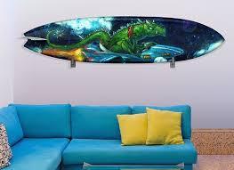 Alien Surfboard Wall Decal