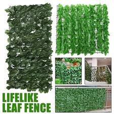 Artificial Hedge Leaves Faux Ivy Leaf Privacy Fence Screen Garden Decor Wish