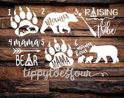 Mama Bear Vinyl Decal Tribe Arrows Paw Teepee By Tippytoesfour Momma Bear Tattoo Mama Bear Tattoos Bear Paw Tattoos