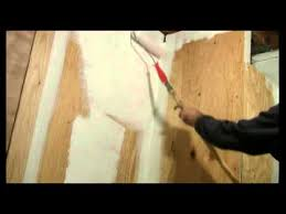 how to paint a plywood wall with a
