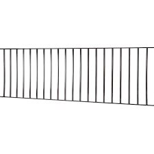 Monroe 3 Ft H X 8 Ft W Black Steel Flat Top Yard Fence Panel In The Metal Fence Panels Department At Lowes Com