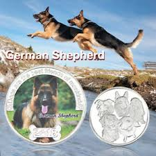 wr german shepherd silver coin cute dog