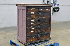 hamilton mfg letterpress cabinet 24