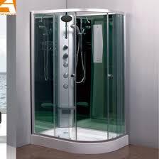 offset quad rain glass shower
